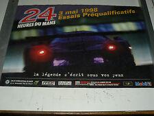 Affiche  Essai 24 Heures du Mans 03/ 05/1998 sport car course auto Poster