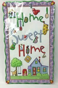 "Silvestri 6 3/4"" SUE DREAMER 3D Wall Plaque  - Home Sweet Home"