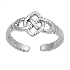 Sterling Silver 925 Usa Seller Celtic Knot Design Toe Ring