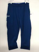 Under Armour Mens Blue Sweatpants 2XL Loose Fit Activewear
