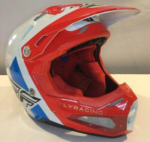 FLY RACING 2021 FORMULA HELMET MX ATV OFF-ROAD ENDURO DIRTBIKE MENS MED RED/BLUE