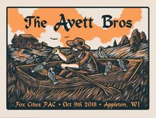Avett Brothers Poster - 10/9/18 - Appleton, WI. #35/200. SOLD OUT