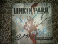 Autographed Linkin Park Hybrid Theory Booklet