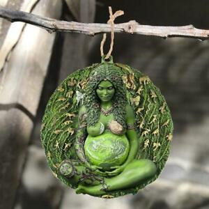 Large Ethereal Mother Earth Gaia Sculpture Hanging Figurine Car