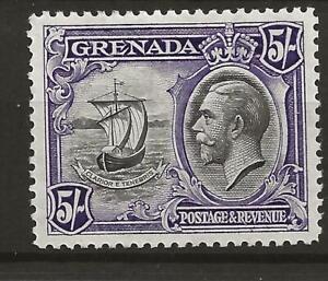 Grenada 1934 5s black and violet, m/m (SG 144). Cat £48