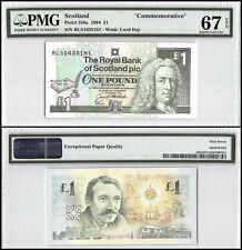 Scotland 1 Pound, 1994, P-358a, UNC, Lord Ilay, Commemorative, PMG 67 EPQ