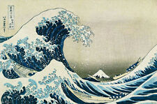 The Great Wave off Kanagawa Poster Print by Katsushika Hokusai, 34x22