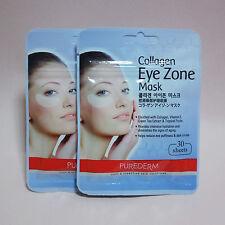 Purederm Collagen Eye Zone Mask Dark Circles White 30 Pairs (2 Pack 60 Sheet)