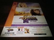 MILEY CYRUS - Publicité de magazine / Advert !!! HANNAH MONTANA !!
