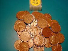 """1931-P LINCOLN WHEAT CENT ROLL, HIGH GRADE, ALL """"VF-XF"""""""