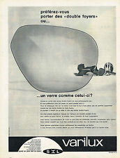 PUBLICITE ADVERTISING  1960   VARILUX   verres de lunettes