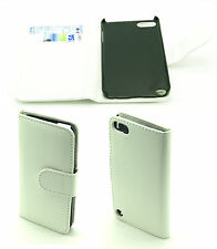Elegante bianco / crema pelle PU Wallet Case Cover per Apple IPOD 5GEN