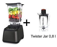 Mixer Blendtec Designer 725 Dark Grey Metallic + Twister Jar NEW