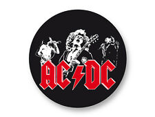 "Pin Button Badge Ø25mm 1"" AC/DC Hard Rock US Angus Young"