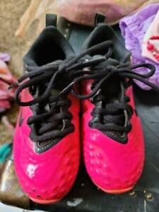 Nike Hyperdiamond 2 Fastflex Pink Black Keystone Girls Cleat 856435-066 Size 11C