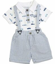 BabyPrem Boys Baby Clothes 2 Piece Outfit 'Cars' T-Shirt & Shorts Set NB-6m