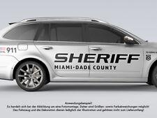 1 x Autoaufkleber Set SHERIFF US Cop Sticker Shocker Car Decal Folie beidseitig