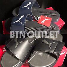 New PUMA Men's STARCAT Tech Slide Sandals Slide Navy-White Black-Asphalt 8-12