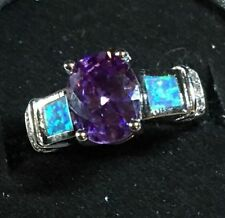 Solitaire Amethyst Fashion Rings