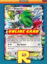 Shaymin Ex - Regular - for Pokemon TCG Online ( digital ptcgo in Game Card)
