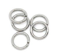 500x Stainless Steel Open Split Ring Silver Tone Findings 7mm Dia. For Jewellery
