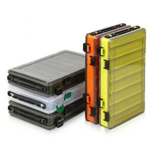 Fishing Tackle Box Double Sided Compartments Fishing Lure Box Fishing Accessory