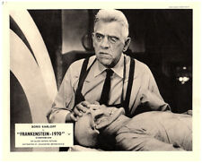 Frankenstein 1970 Original Lobby Card Boris Karloff horror 1958