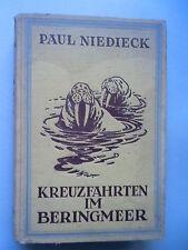 Kreuzfahrten im Beringmeer von Paul Niedieck Neue Jagden Reisen 1927 Jagd