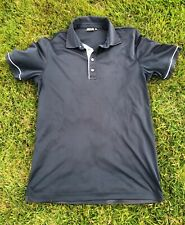 Ping Sensor Cool Black White Short Sleeve Polo Top Size M Excellent Condition