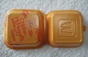 McDonald's Styrofoam container 4 Piece Chicken McNuggets Never Folded Closed