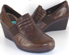 EARTH Starling Brown Distressed Leather Wedges Women's Shoe Size 8.5M NEW