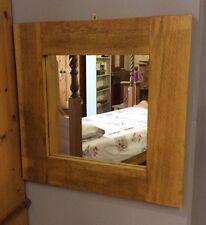 "Wooden Rustic Medium (12"" - 24"") Width Decorative Mirrors"