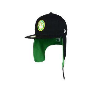 Boston Celtics New Era NBA Team Dog Ear 59FIFTY Flat Bill Brim Retro Cap Hat Lid