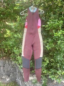Billabong Women's Salty Jane Sleeveless Fullsuit Size 6 EUC Maroon