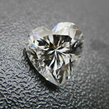 Cubic Zirconia (CZ) 5 MM Heart White Vibrant Loose Stone For Jewelry