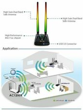 Alfa Network AWUS036ACH 1200Mbps WiFi USB 3.0 Adapter High Power Dual Band