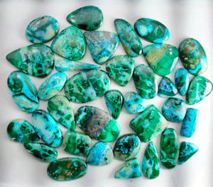 115.79 Ct. Natural Chrysocolla Malachite Mix Lot Cabochon Loose Gemstone GK-16