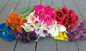 Artificial Calla Lily Bunch of 10 in Many Colours - Real Touch Flowers