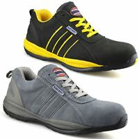 Mens New Leather Safety Steel Toe Cap Lightweight Work Boots Trainers Shoes Size
