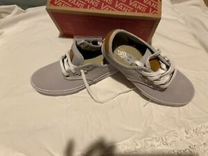 Boys Light Grey VANS Shoe Size 4.5 youth brand new in box