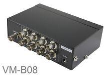 8 Port BNC Video Splitter, Security Camera Monitor Image Multiplier Box, VM-B08
