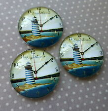 4 pcs 25mm Domed Round Cabochons Lighthouse cabochon