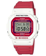 DW-5600TB-4A RED WHITE CLASSIC CASIO G SHOCK X THROWBACK SERIES