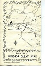 Windsor Great Park and Savill Gardens, old map c 1955? Double sided