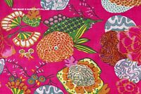 Indian By Yard Hand Block Print Running Fabric Cotton Dress Making Material Pink