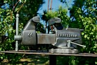 VTG. CRAFTSMAN 3-1/2 JAW BENCH VISE W/ SWIVEL BASE AND PIPE GRIPS MADE IN USA
