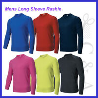 Mens Long Sleeve Rashie Perfect For Water Activities Sun Protection Spandex Mix