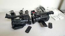 2 x Canon Xf105 Hd Professional Camcorders - Flawless Condition with Accessories