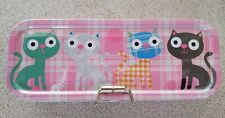 Paperchase pink cats Metal Pencil Case