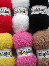 King Cole Cuddles Chunky 10 Colours 50gm Balls Red